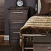 Welcome Furniture Contrast 3 Drawer Bedside Table - Panga