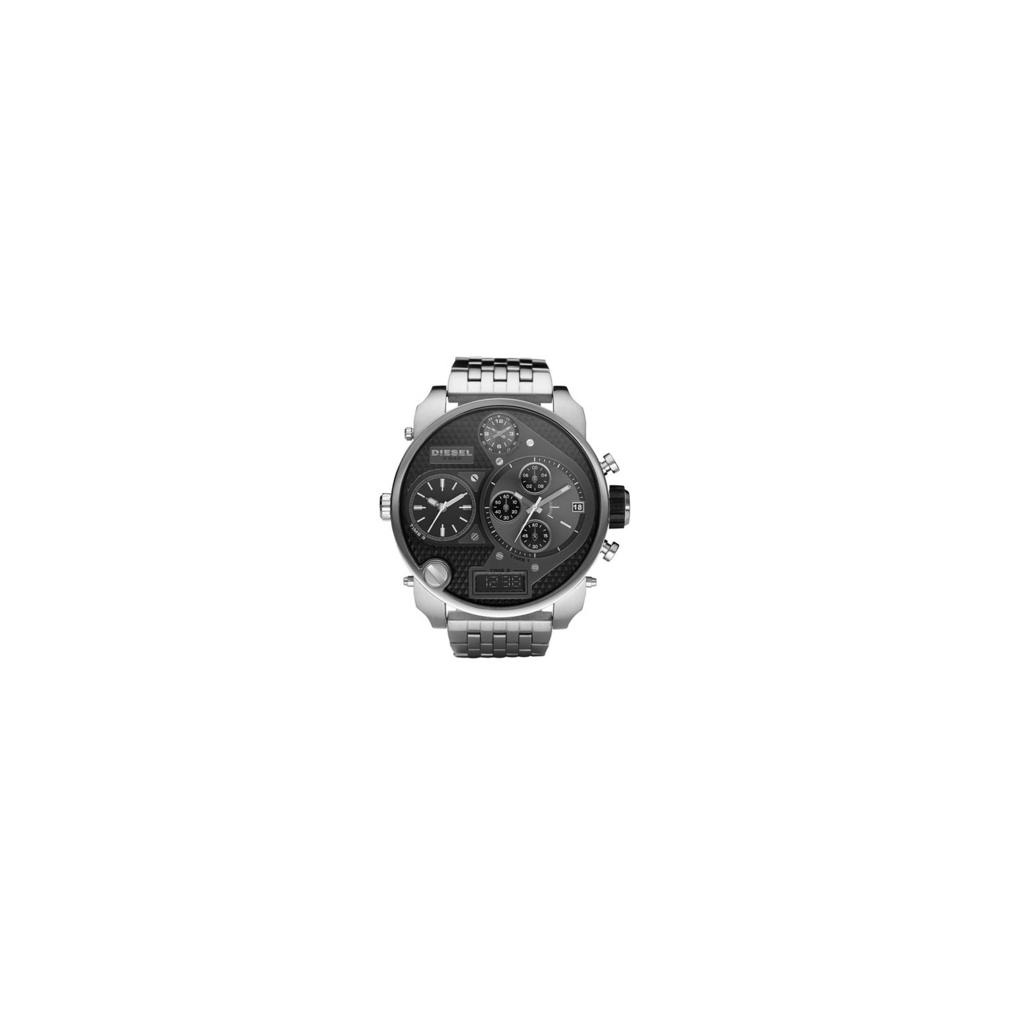 Diesel Gents Stainless Steel Black Multi Dial Watch DZ7221 at Tesco Direct