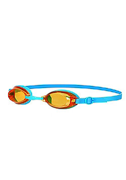 Speedo Jet Junior Kids UV Anti Fog Swimming Goggles - Blue/Orange