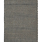 Think Rugs Sonic Black/Grey Knotted Rug - 150 cm x 230 cm (4 ft 11 in x 7 ft 7 in)