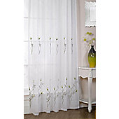 Melissa Embroidered Voile Panel - Green