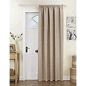 Curtina Kent Lined Door Curtain - Natural
