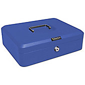Sterling Blue Metal Cash box - Extra Large