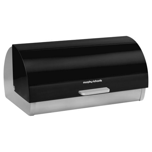 buy morphy richards accents black bread bin from our bread. Black Bedroom Furniture Sets. Home Design Ideas