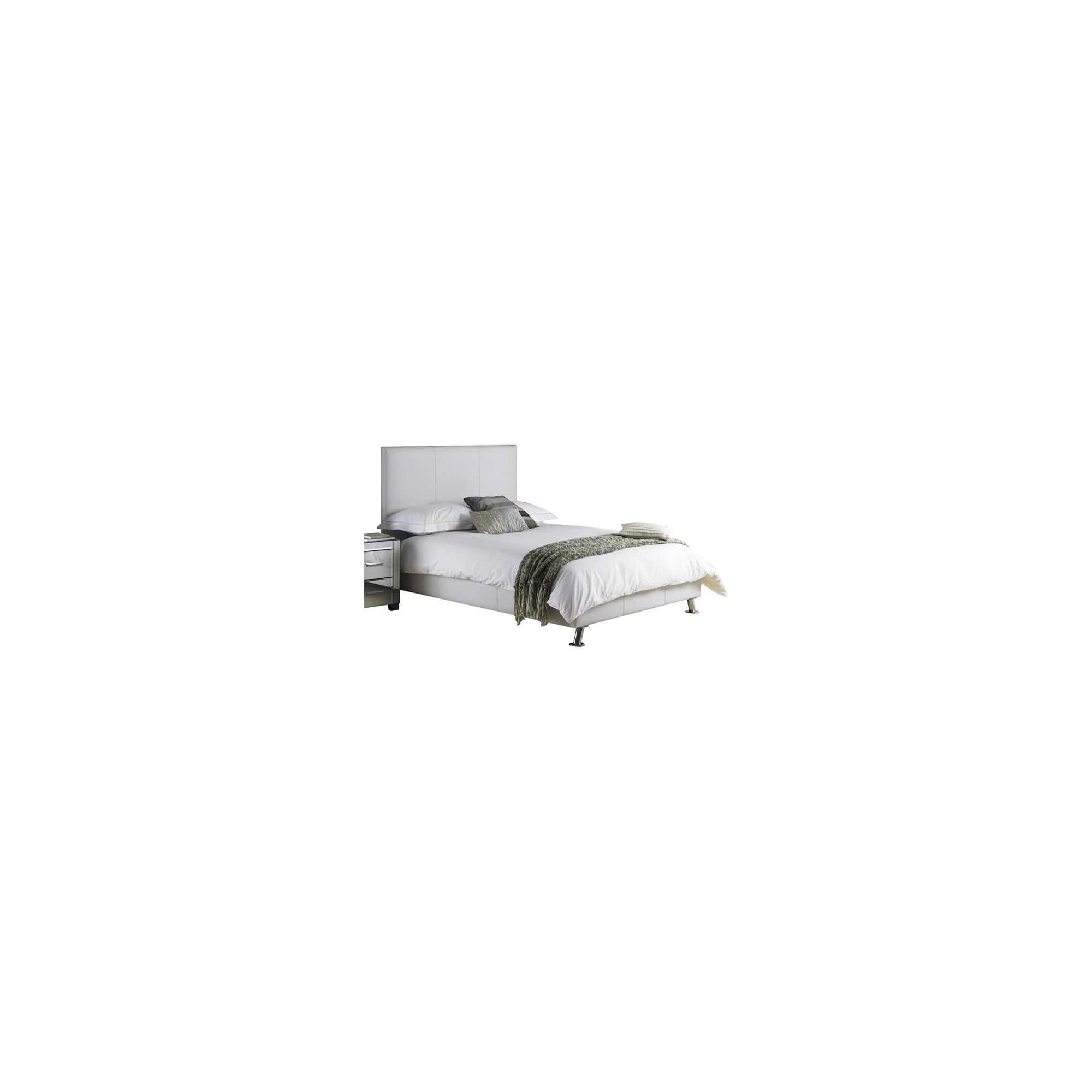 Hyder Milan Faux Leather Bed - White - King at Tesco Direct