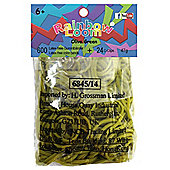 Official Rainbow Loom 600 Olive Green Refill Bands w/ C Clips