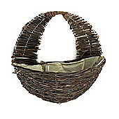 "Apollo Willow Garden Wall Basket - 16"" - Complete with Liner and Chain"