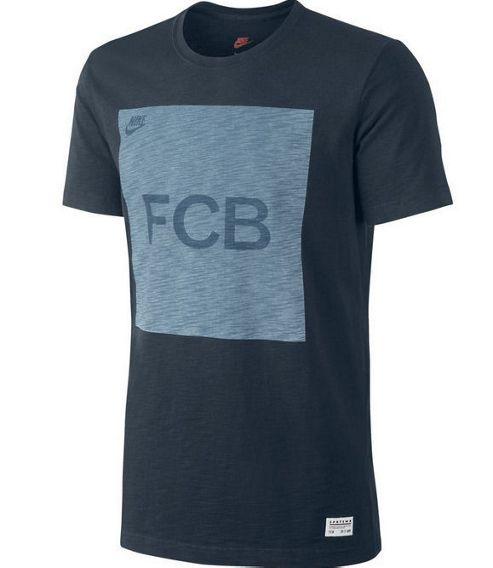2013-14 Barcelona Nike Covert Block Tee (Navy)