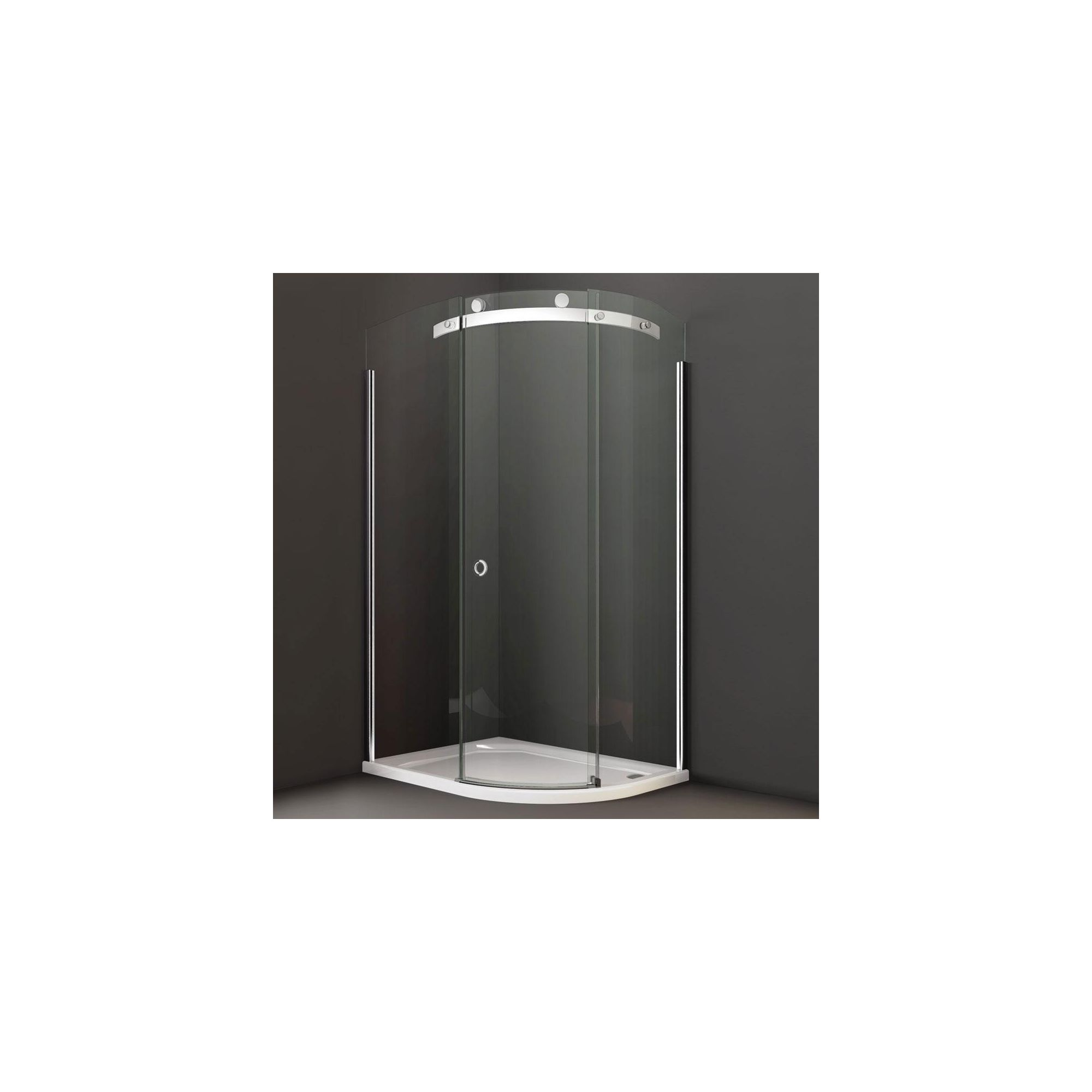 Merlyn Series 10 Offset Quadrant Shower Door, 1200mm x 900mm, 10mm Smoked Glass, Right Handed at Tesco Direct