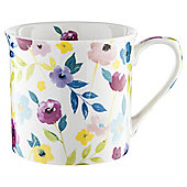 Tesco White Floral Palace Mug Single
