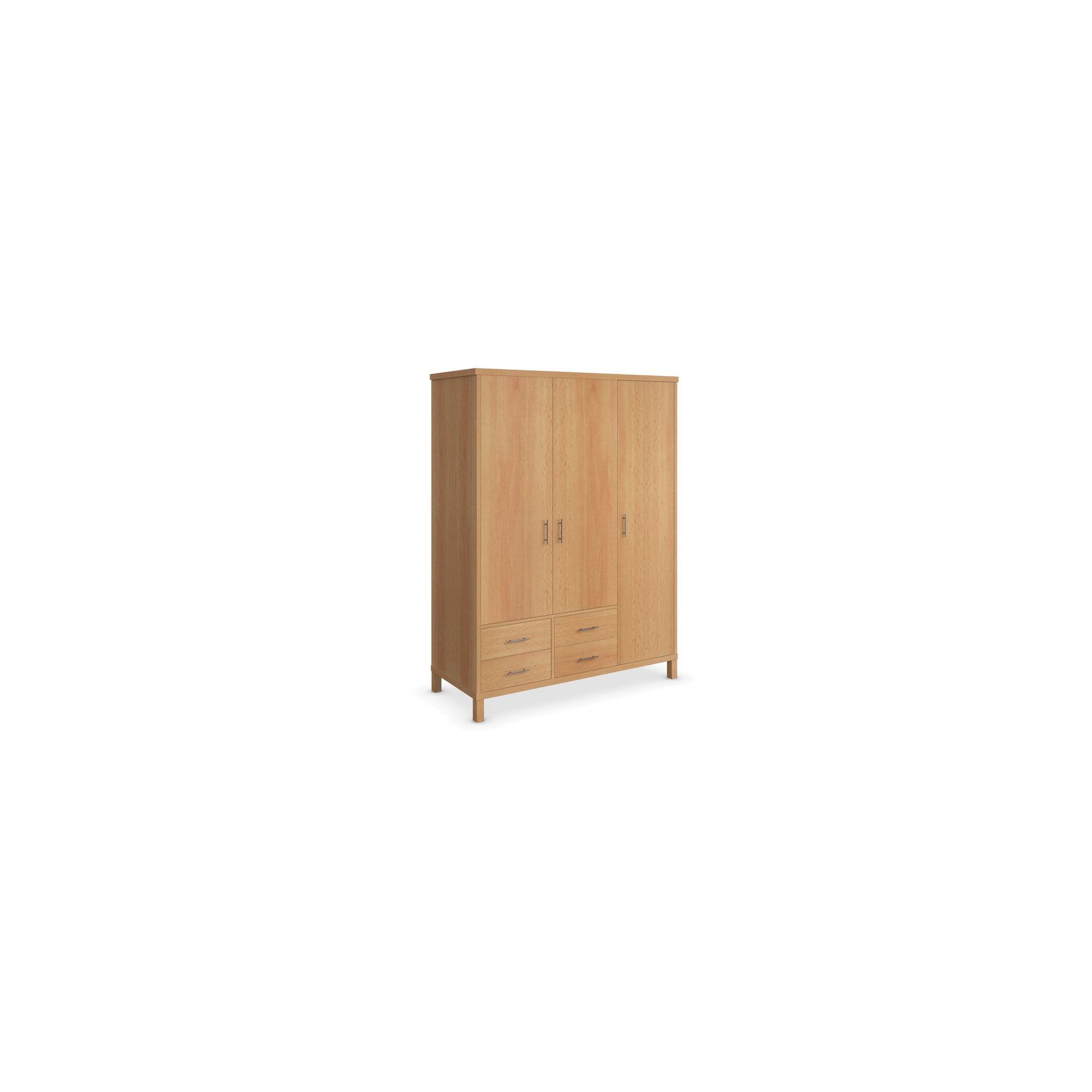 Urbane Designs Vettori Beech Bedroom 3 Door 4 Drawer Wardrobe at Tesco Direct