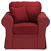 Louisa Loose Cover Fabric  Armchair Wine Jaquard