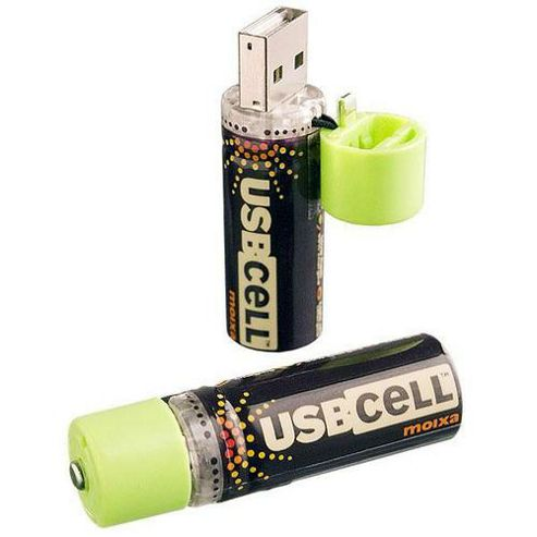 Moixa MXAA02 USB Cell AA Rechargeable Batteries x2