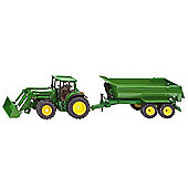 Farming - 1:32 Scale John Deere with Loader & Tipping Trailer - Siku
