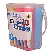 The Entertainer 10 Giant Chalks