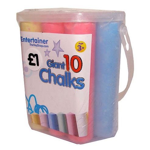 The Entertainer 10 Giant Chalks