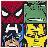 Marvel Avengers, Super Hero Square Rug