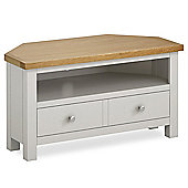 Cotswold Painted Corner TV Stand - Matt Stone Grey
