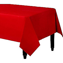 Red Plastic Tablecover - 1.4m x 2.8m