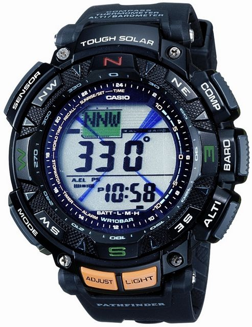Casio Pro Trek Mens Resin Chronograph Alarm World Time Watch PRG-240-1ER