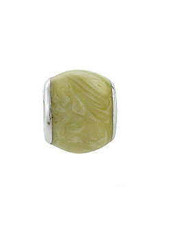 Amore & Baci Light Green Enamel Marbled Bead