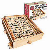 Traditional Wooden Labyrinth Game