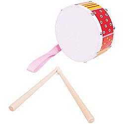 Bigjigs Toys Drum (Red/Orange)