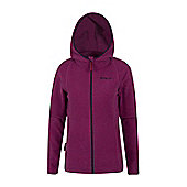 Hebridean Stripe Melange Womens Fleece - Red