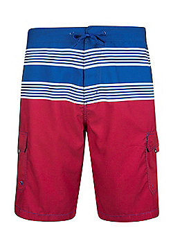 Mountain Warehouse Ocean Mens Striped Boardshorts - Blue