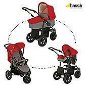 Hauck Viper Trio Travel System, Charcoal/Red