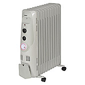 Igenix IG2655 2.5kW Oil Filled Radiator with 24H Timer - Grey
