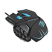 Mad Catz M.M.O.TE Gaming Mouse (Black/Blue) for PC and Mac