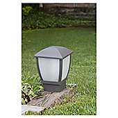 Faro Wilma One Light Post Lamp in Dark Grey