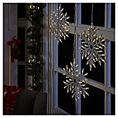 Battery Operated Light Up Snowflake Christmas Light, 3 pack