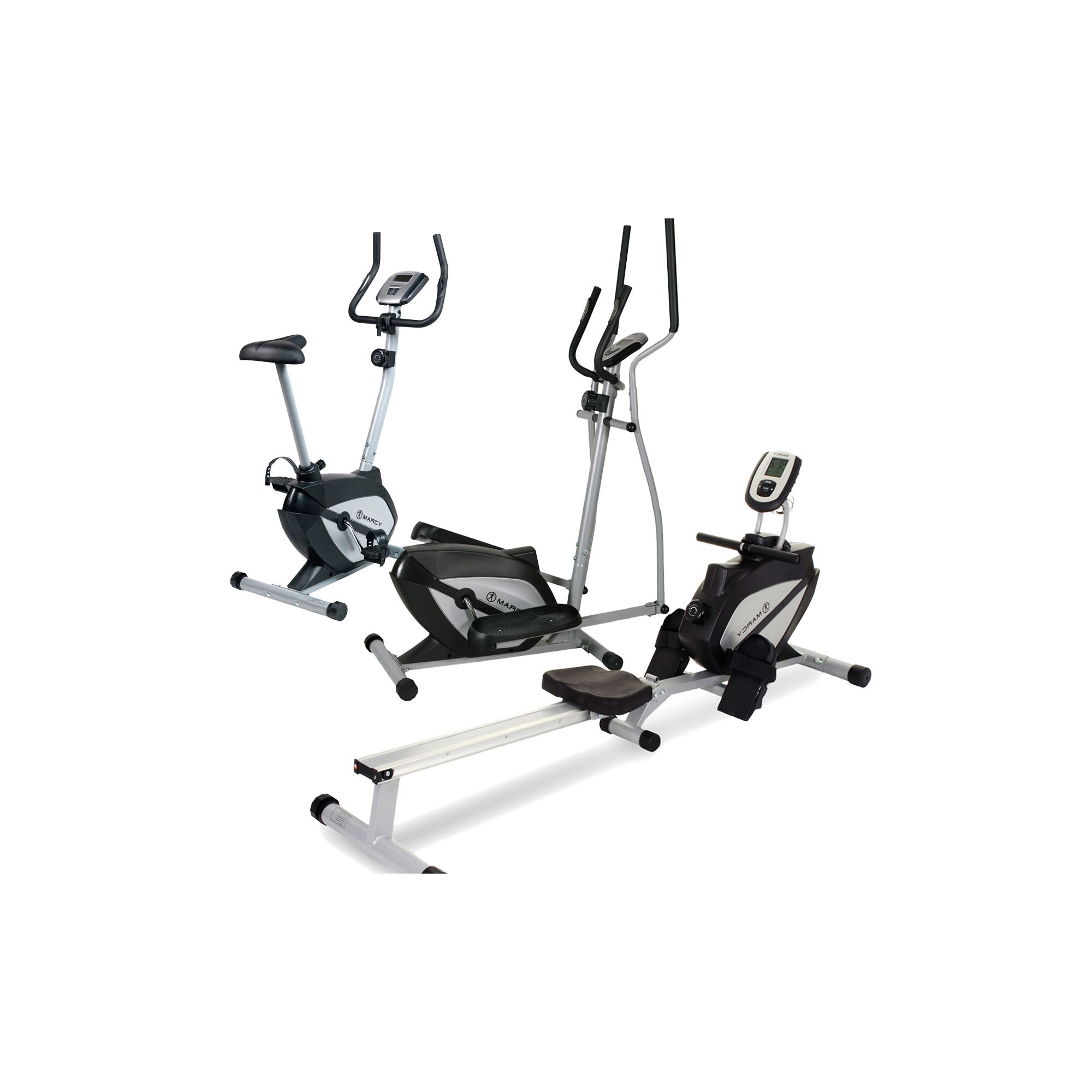 """""""Marcy Home Gym Package Exercise Bike, Cross Trainer And"""