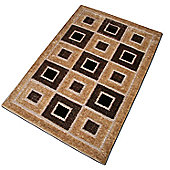 Pharmore Ltd Beige Cut and Loop Rug