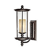 Savoy House Chestatee One Light Wall Lantern in English Bronze and Gold