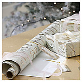 Gold Banner Script Christmas Wrapping Paper, 4m