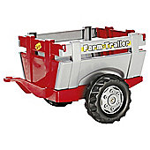 Rolly Farm Trailer Red Silver