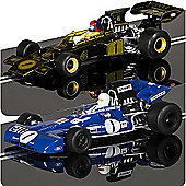 Scalextric Slot Car C3479A Gp Legends - Tyrrell 003 Vs Team Lotus Type 72E