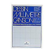 Canson mm Dessin Graph Pad A3 Blue Grid