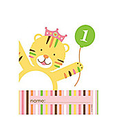Sweet at one Girl Plastic Party Bags (8pk)