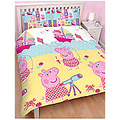 Peppa Pig Nautical Double Rotary Duvet Cover Set