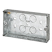 Pack of 20 x 2 Gang 25mm deep galvanised steel Knock Out Box