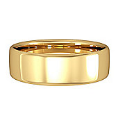 18ct Yellow Gold - 6mm Essential Bombe Court-Shaped Band Commitment / Wedding Ring -