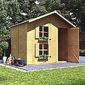 Mad Dash Peardrop Xtra Wooden Playhouse 6 x 7 (No Internal Bunk)
