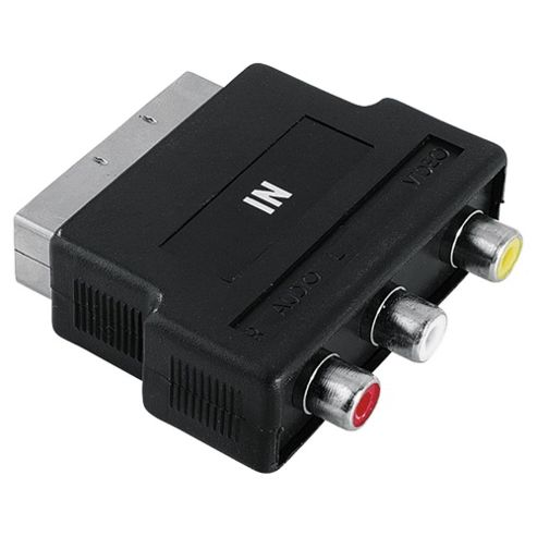 Hama Video Adapter (3 RCA Female Jacks Video Audio L & R Scart Male) Plug