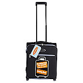 Constellation Guaranteed On Board 2-Wheel Suitcase, Black with Grey Trim