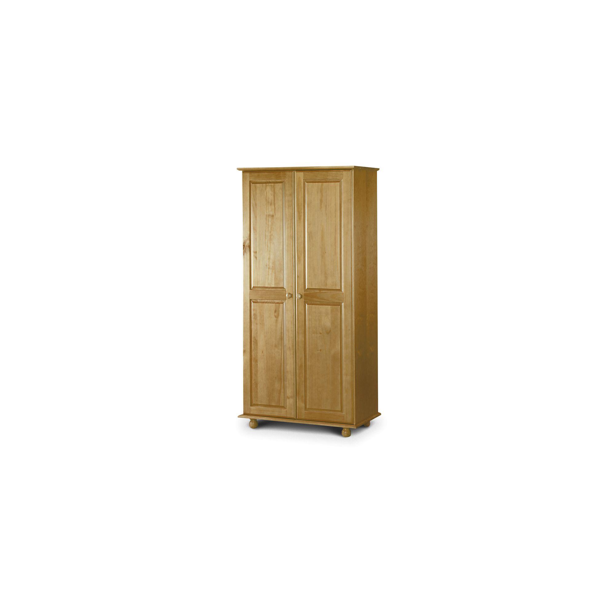 Julian Bowen Pickwick 2 Door All Hanging Wardrobe in Solid Pine at Tesco Direct
