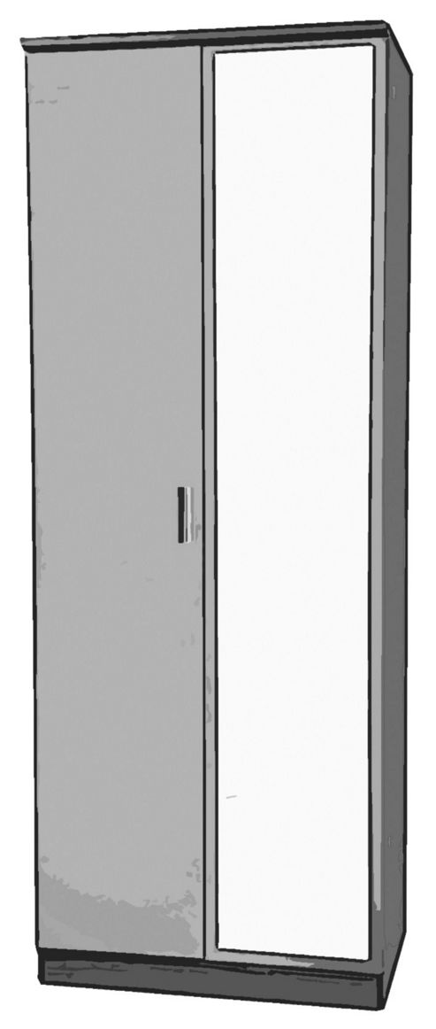 Welcome Furniture Mayfair Tall Wardrobe with Mirror - Ruby - Cream - Pink